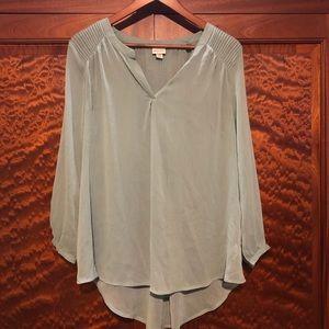 Light green sheer Merona blouse- medium